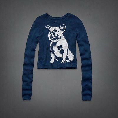 "NWT Abercrombie Kids girl ""dog"" sweater size M"