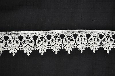 Black Venice Venise loop Style  SCALLOPED Lace edge Trim 1 1//8 W SHIP FROM USA