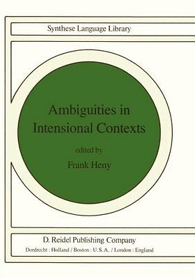 Ambiguities in Intensional Contexts Copertina flessibile