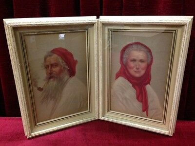 The Old Man and Old Woman of Capri Framed Prints