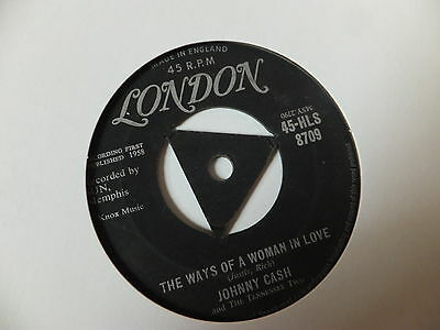 "JOHNNY CASH  7"" single vinyl, You're the nearest thing to heaven / Women in love"