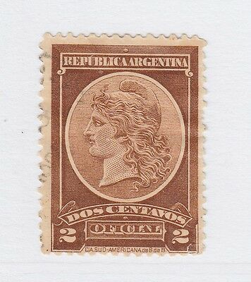 A3P19 Argentina Official Stamp 1901 2c used #64
