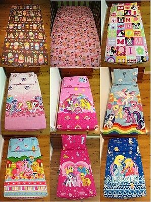 New Minnie, Little Pony, Kitty, Frozen Girls baby cot fitted sheet + pillowcase
