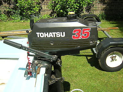Tohatsu outboard motor 3.5hp long shaft