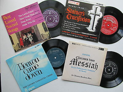 """4 * 7"""" 45RPM EP Best Loved Sacred Songs, Heaven Came Down, Messiah etc Mono 60s"""
