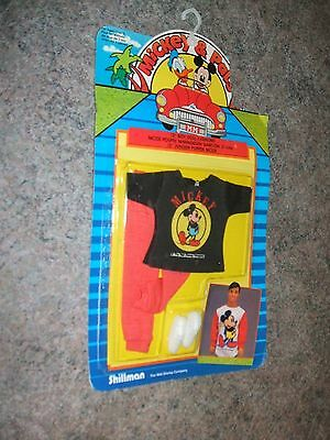 """MICKEY & PALS 12"""" BOY DOLL FASHIONS Mickey sweater / pants / white shoes SEALED"""