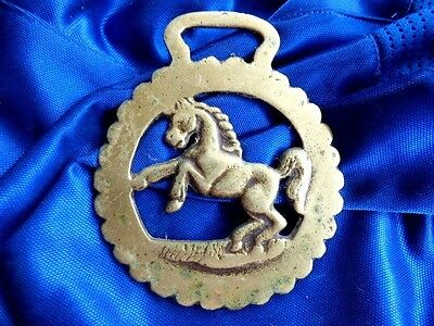 Vintage  horse brass  standing horse