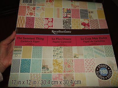 "recollections scrapbook paper 180 sheets 12""x12"" the sweetest thing la plus douc"