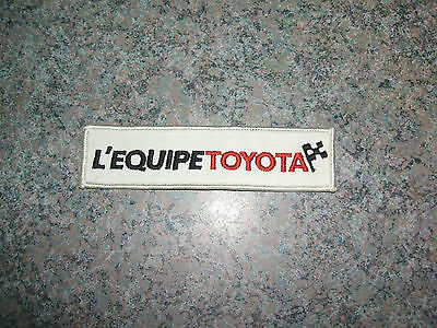 L'ÉQUIPE TOYOTA french PATCH sew on ONE brand new unused