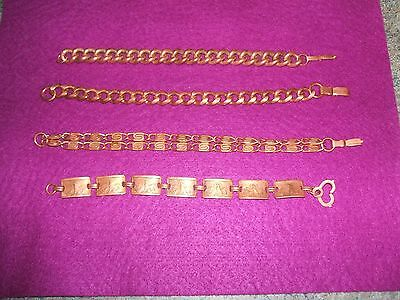 4 COPPER BRACELETS total weight of 4 bracelets approx. 145gram My personal use