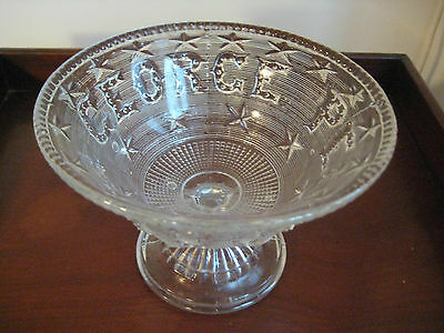 Antique Flint Glass Compote C1869 George Peabody Rare