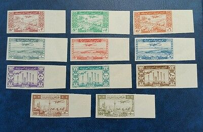 Syria, 1946, Complete air set Imporforate with large margins, Sc C124-C134, MH.
