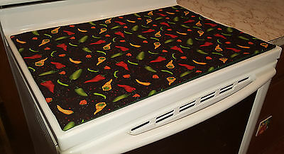 Hot Peppers Themed Glass Stove top / Cook top Cover & Protector