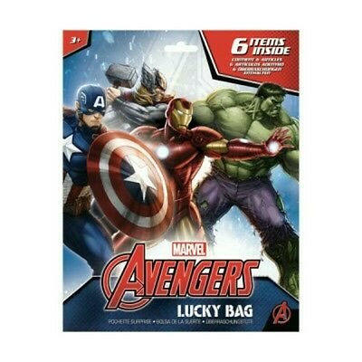 MARVEL AVENGERS party  Lucky bags 6 items inside kids birthday filling surprise