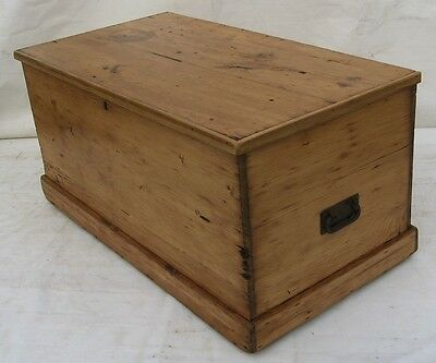 A Rustic Victorian Pine Blanket box(ideal Coffee Table)