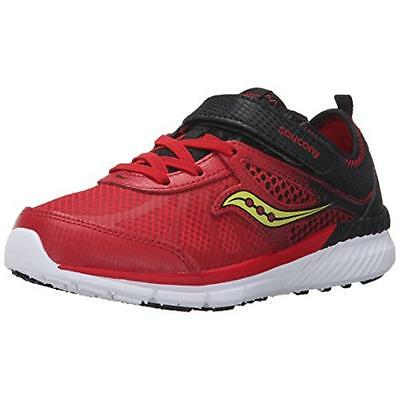 Saucony 3211 Boys Volt Red Leather Running Shoes Athletic 11.5 Medium (D) BHFO