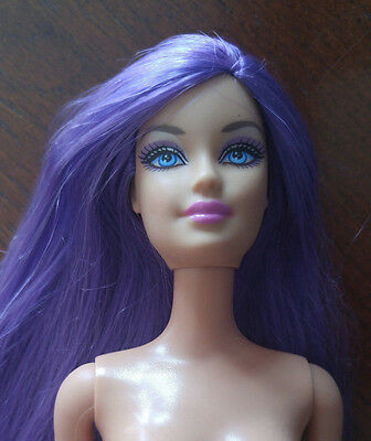 Barbie Doll Nude - Very Long Purple Hair -  Pretty Face