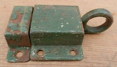 Antique Grungy Green 2-Piece Steel Cabinet Cupboard Door Latch Ships for $4.95