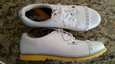 Womens Designer G/fore Gallivanter Stud Soldout White Leather Golf Shoes 8