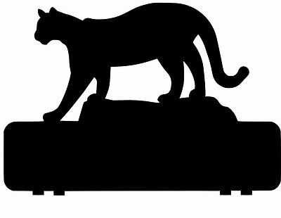 COUGAR PUMA MOUNTAIN LION mailbox topper 11 inch PAINTED and NO NUMBERS  LETTERS