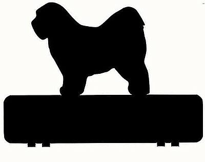 TIBETAN TERRIER DOG mailbox topper 11 inch PAINTED and NO NUMBERS OR LETTERS