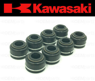 Set of (8) Intake & Exhaust Valve Stem Seals Kawasaki (See Fitment Chart)