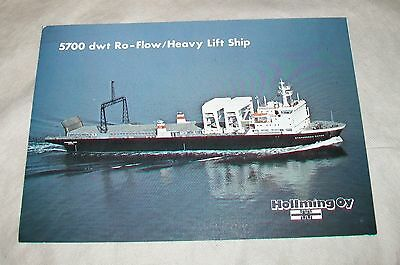 Hollming Oy 5700 Dwt Ro-Flow / Heavy Lift Ship Brochure Finland