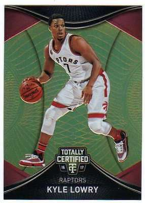 2016-17 Panini Totally Certified Gold /10 #82 Kyle Lowry Raptors