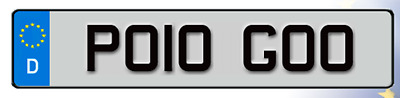 PO10 GOO Cherished Reg Number Plate VOLKSWAGEN POLO 6R GTI VW LOW FAST GO