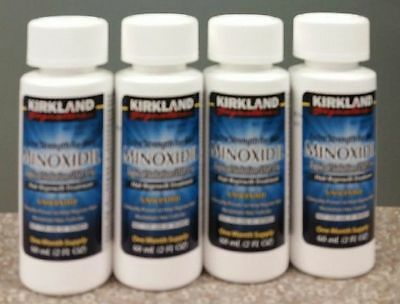 4 Months Kirkland Generic Minoxidil Liquid 5% Mens Hair Loss Regrowth Treatment