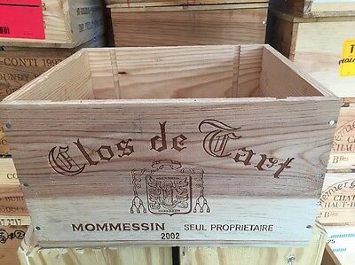 Wine Box Case Crate 6 Bottle French Domaine Clos Tart Mommessin