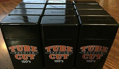 12 GAMBLER TUBE CUT 100 MM STRONG BOX PLASTIC CIGARETTE STORAGE CASES  100's