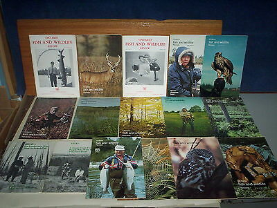 16 Province of Ontario Fish and Wildlife Review + NR Trees Magazines Lot 1970-79
