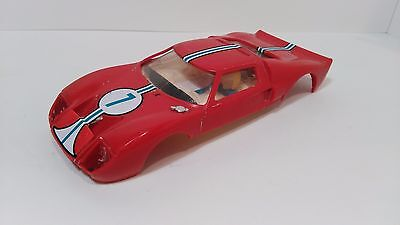 SLOT 1:32 TRIANG SCALEXTRIC EXIN FORD GT C-35 RED ROJO BODY made in Spain 1968
