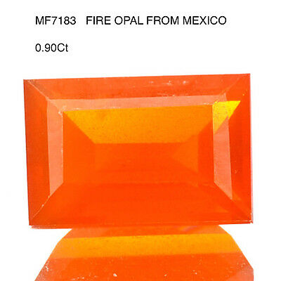 FIRE OPAL WITH TRANSPARENCY 0.95Ct  NATURAL MINED UNTREATED  MF7183