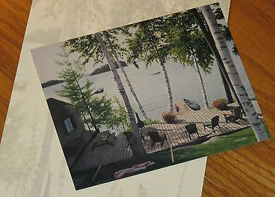 Summer Cottage David Ward Art 2006 Lang Deluxe 5x6 Note Cards 4ct