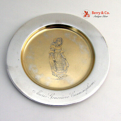 Baby Plate Sterling Silver San Francisco Shreve and Co 1880