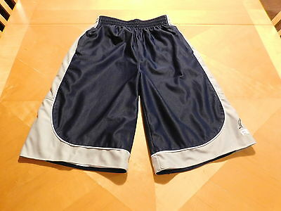 AND1 Blue/Gray Basketball Shorts Size Large 14-16