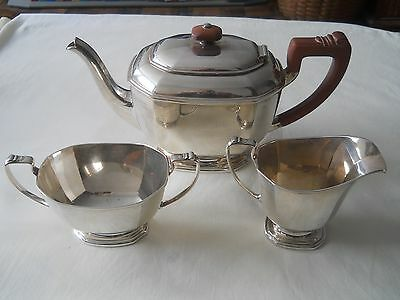 Awesome Birmingham 1936 Sterling 3 Pc Tea Service Set