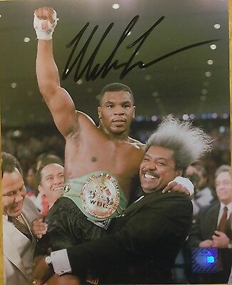 Iron MIKE TYSON Signed Autographed 8x10 Boxing Photo Authenticated TSHS-COA