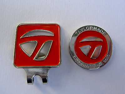 Golf Ball Marker & Hatclip ~ TAYLORMADE ~ Red  Taylor Made