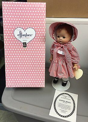 "Vintage 1995 Effanbee ""patsy Joan"" Composition Doll W/box"