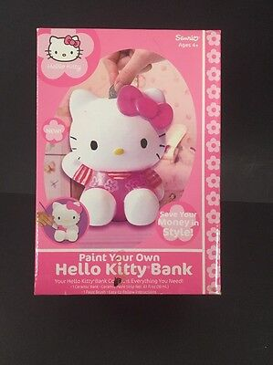 Sanrio Hello Kitty Paint Your Own Ceramic Coin Piggy Bank New in Box