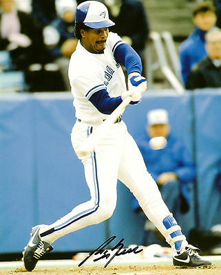 George Bell Autographed 8x10. Toronto Blue Jays