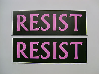 Resist (pink and black) Anti Trump pair of magnets for cars