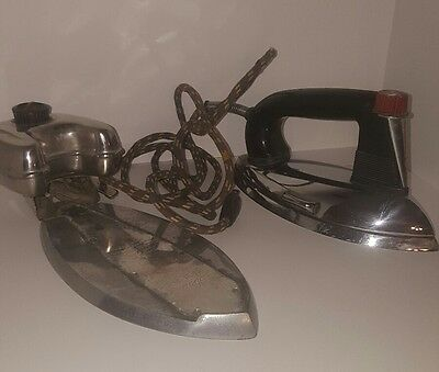 Vintage General Mills Iron And Steam Ironing Attatchment Tarnished Worn Display