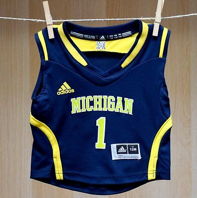 Michigan Wolverines Baby Infant Basketball Replica Jersey (FREE SHIPPING) 24 mo