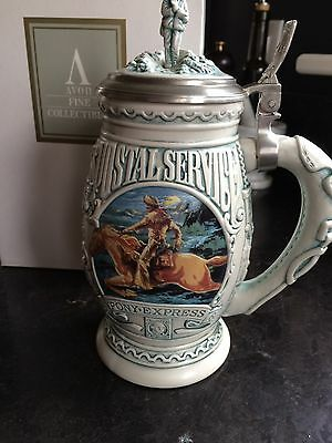 "Avon Collectable ""salute To The Postal Service"" Lidded Stein"