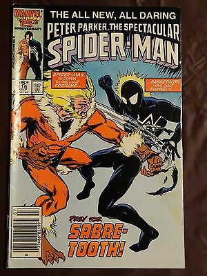 The Spectacular Spider-Man #116 VF-  See Pics!!!  SABRE-TOOTH!!!