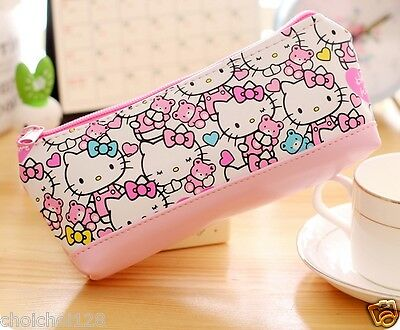 Hello Kitty Pink Bear Pencil Cosmetic Make-Up Hand Bag KK561